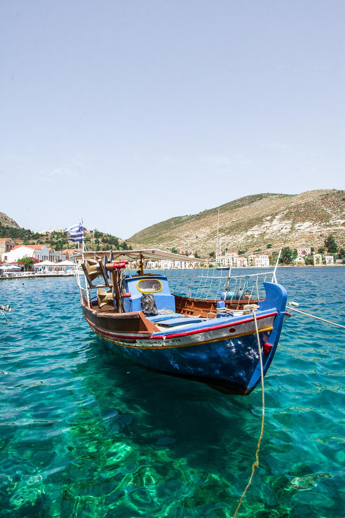 kastellorizo fishing boat